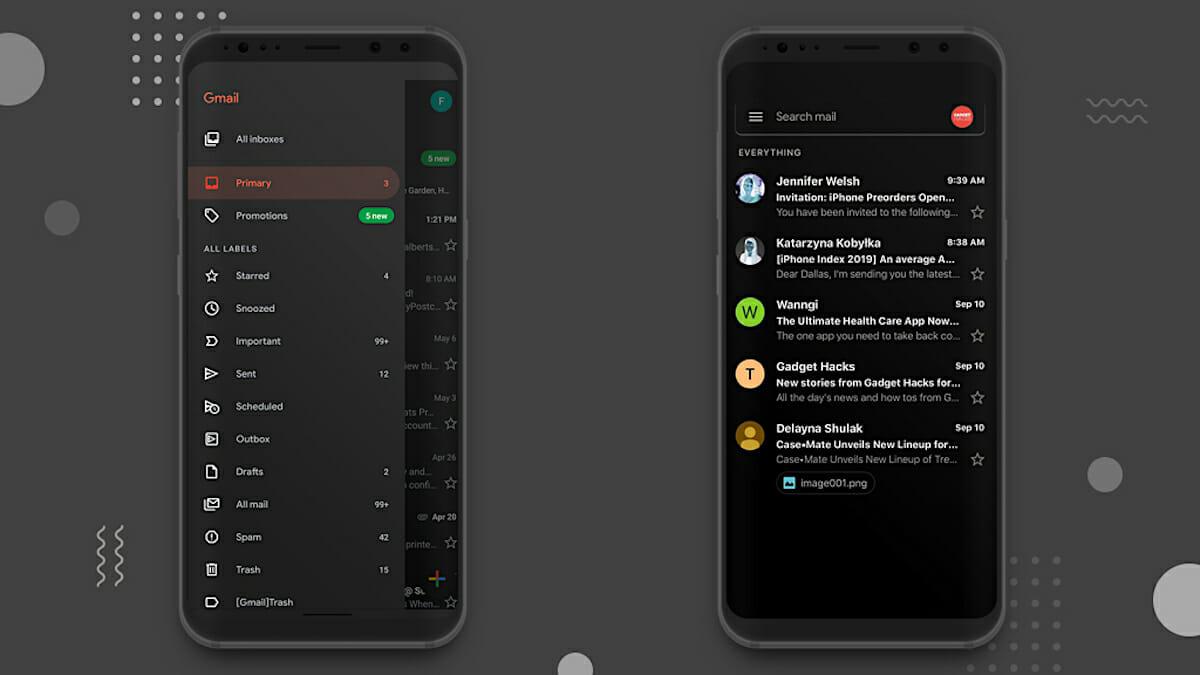 Google Playストアとgmailがダークテーマに対応 Telektlist
