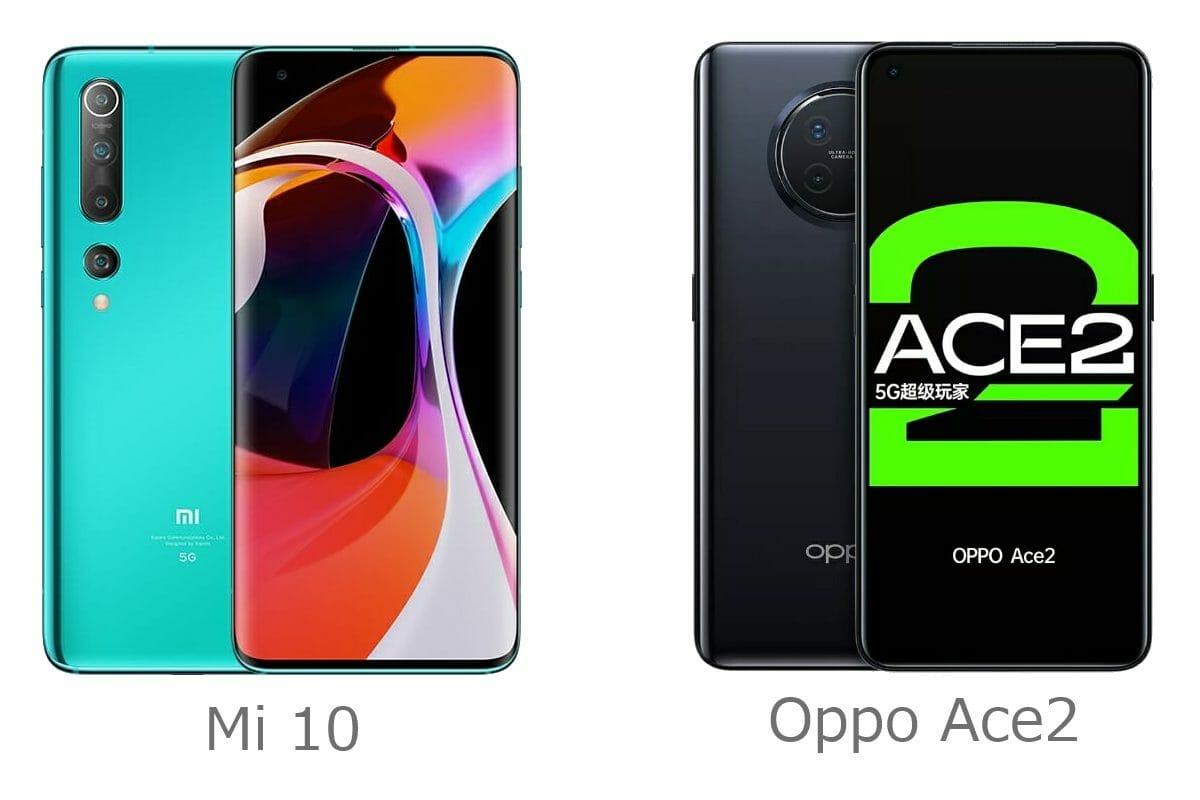 Mi10 vs Ace2 - design