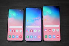 Galaxy S10,S10+,S10eでバッテリーを%表示にする方法